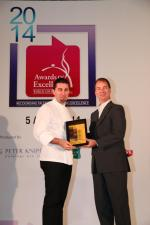 <br />At-Sunrice GlobalChef Academy GlobalChef Award 2014 recipient Chef Massimo Pasquarelli receiving his award from Chief Executive, At-Sunrice Global Chef Academy, Mr Lawrence McFadden